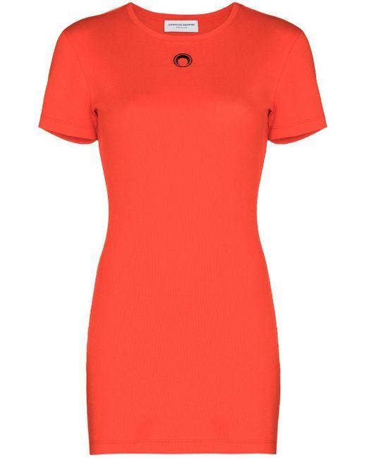 Vestito corto con ricamo di MARINE SERRE in Red