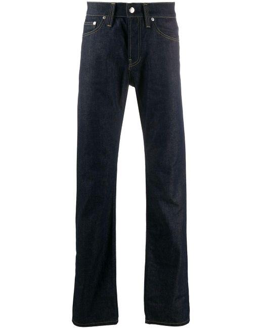 Helmut Lang Blue Straight Leg Jeans for men