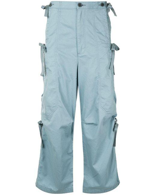 Undercover Blue Straight-leg Cargo Trousers for men