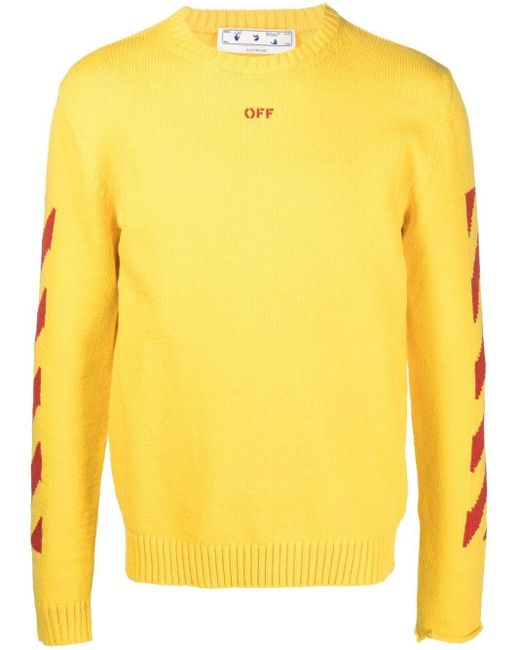 Джемпер С Круглым Вырезом Off-White c/o Virgil Abloh для него, цвет: Yellow