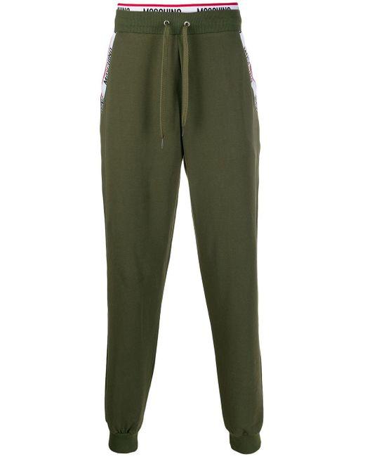 メンズ Moschino ロゴ トラックパンツ Green