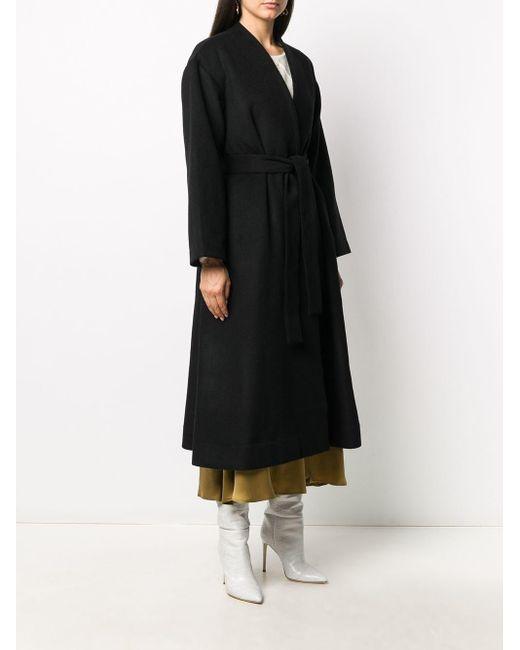 Co. ノーカラー コート Black