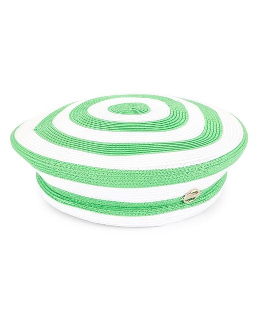 Emilio Pucci ストライプ ベレー帽 Green