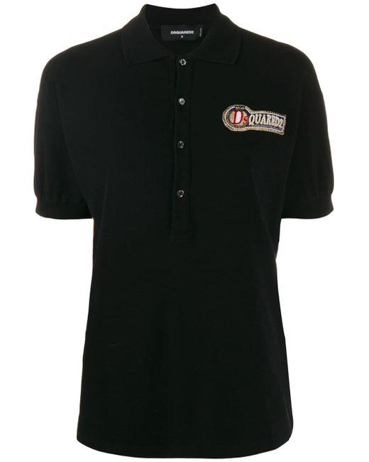 DSquared² ロゴ ポロシャツ Black
