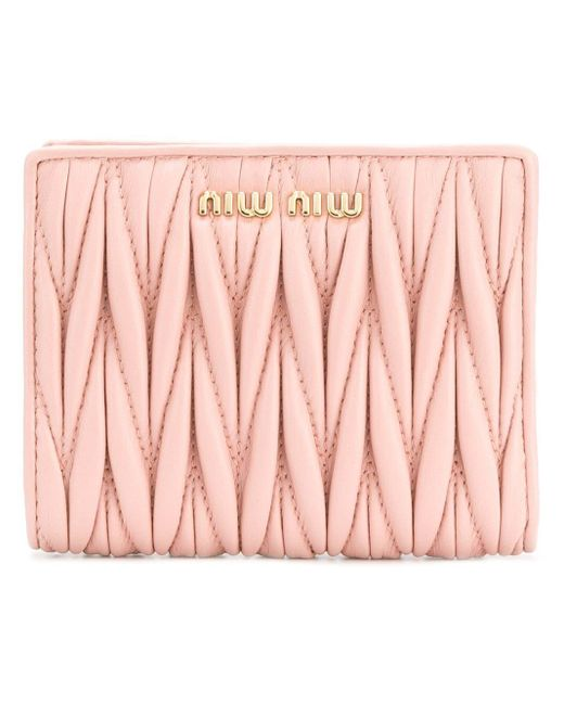 Miu Miu 二つ折り財布 Pink