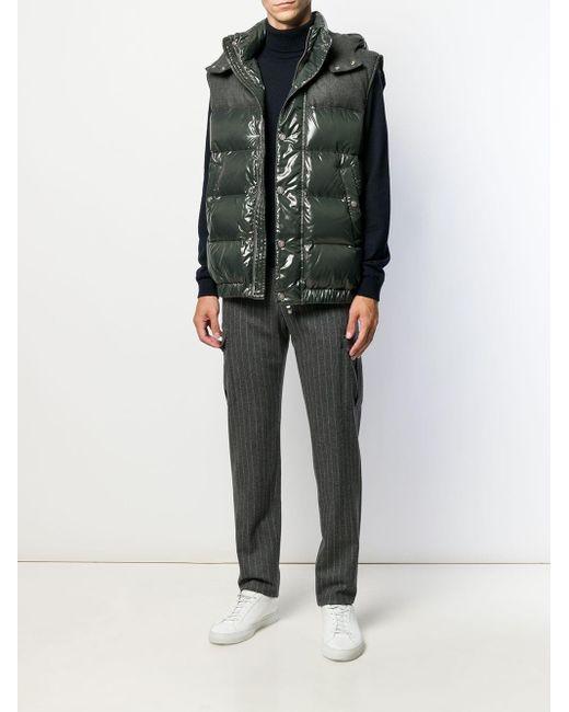 Pantalon de costume à rayures Eleventy pour homme en coloris Gray