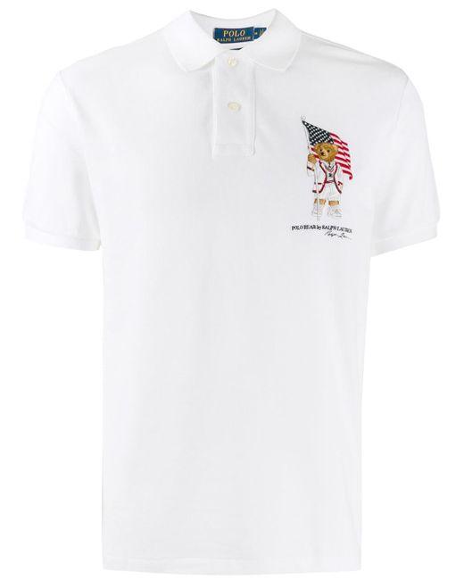 メンズ Polo Ralph Lauren ベア ポロシャツ White
