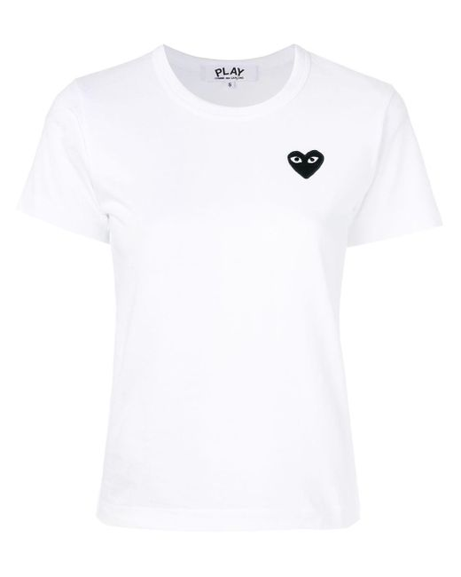 COMME DES GARÇONS PLAY Play ハートロゴ刺繍 Tシャツ White