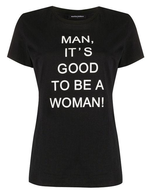 Marlies Dekkers スローガン Tシャツ Black