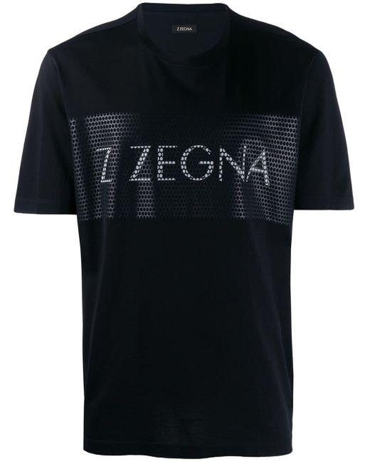 メンズ Z Zegna ロゴ Tシャツ Black