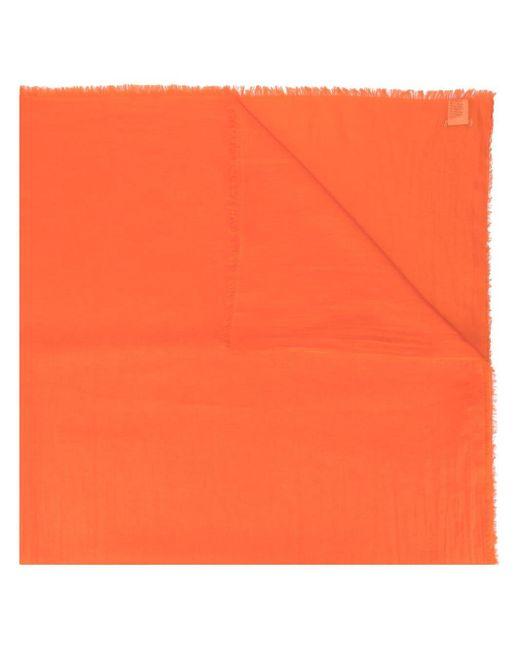 Faliero Sarti フリンジ スカーフ Orange