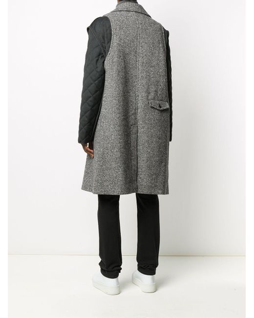 メンズ Maison Margiela レイヤード シングルコート Gray