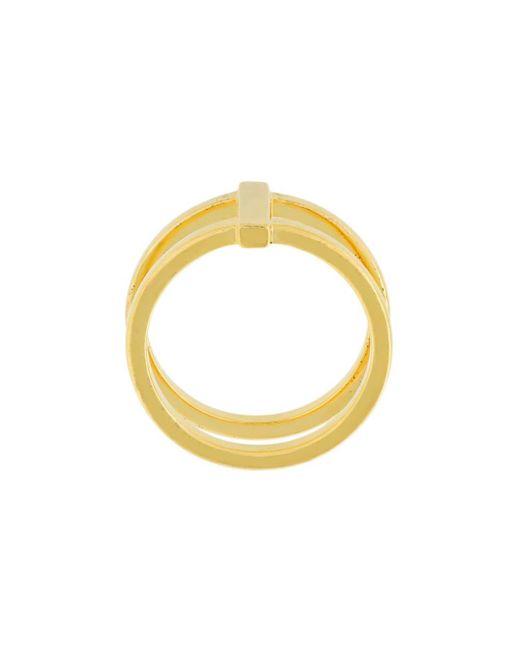 Кольцо 'row' Maria Black, цвет: Yellow