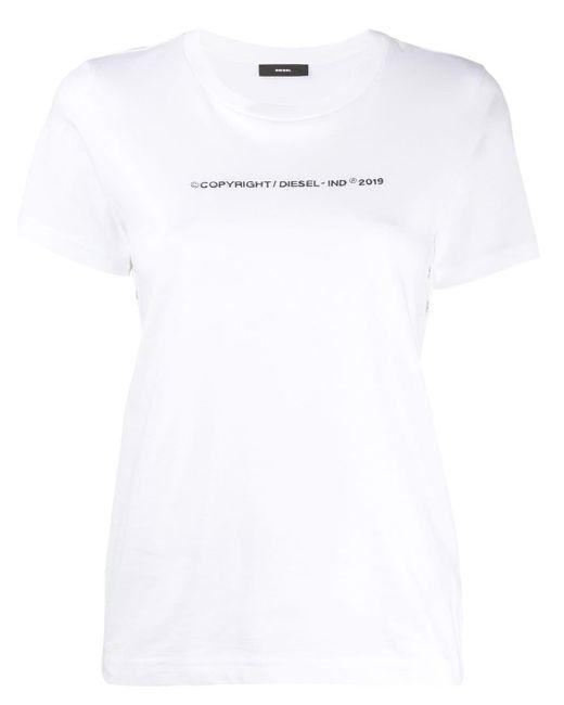DIESEL エンブロイダリーロゴ Tシャツ White