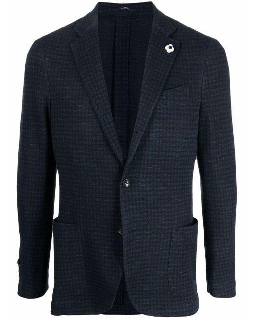 メンズ Lardini ハウンドトゥース ジャケット Blue