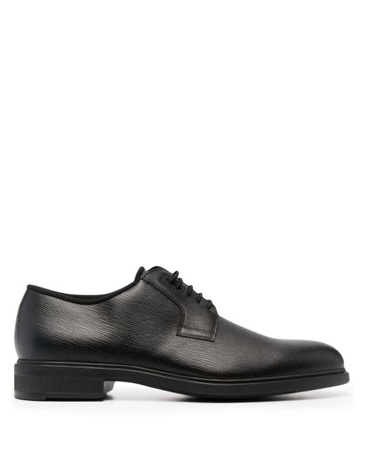 BOSS by Hugo Boss Black Lace-up Derby Shoes for men
