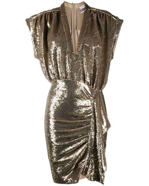 IRO スパンコール ドレス Metallic