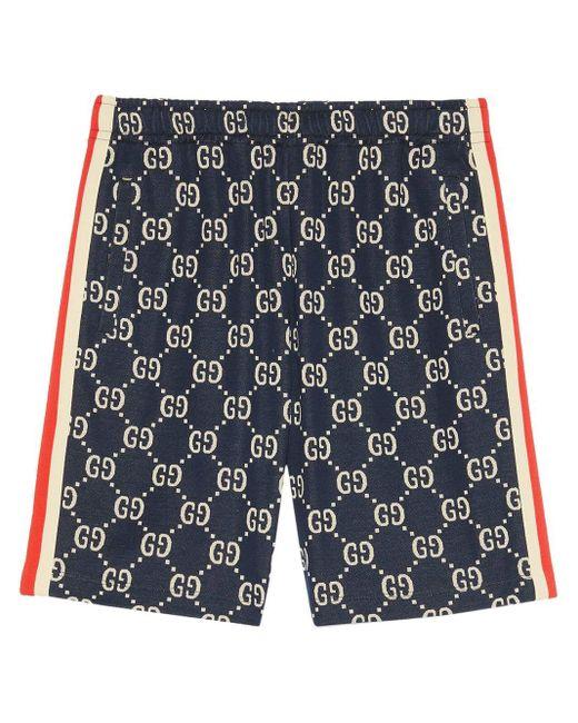 メンズ Gucci 【公式】 (グッチ)GGジャカード ショートパンツブルー/アイボリー GGジャカードブルー Blue