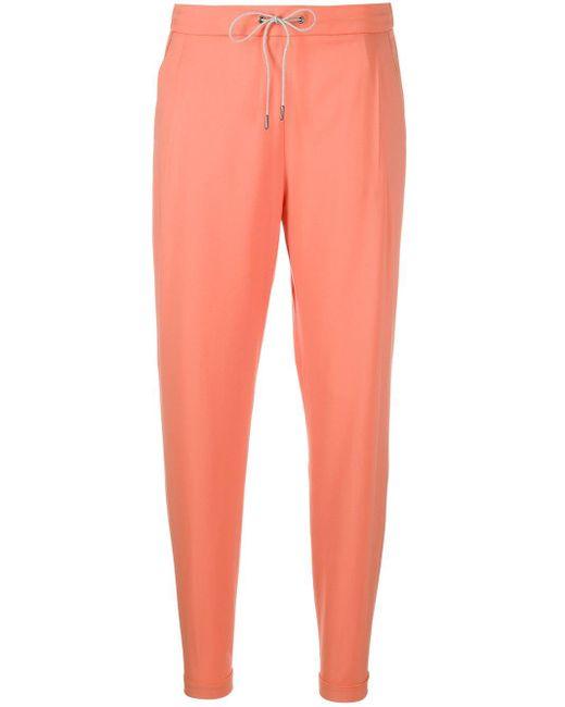 Fabiana Filippi ドローストリング パンツ Orange