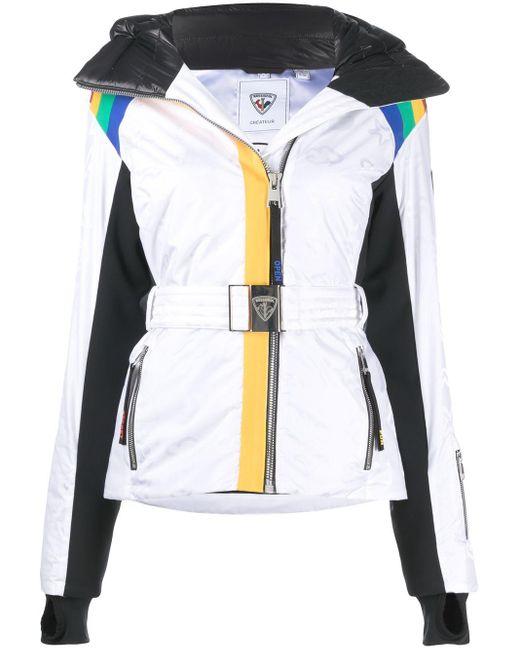 Rossignol ストライプ ダウンスキージャケット White