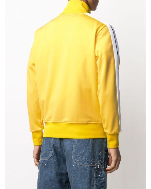 メンズ Palm Angels ジップアップ トラックジャケット Yellow