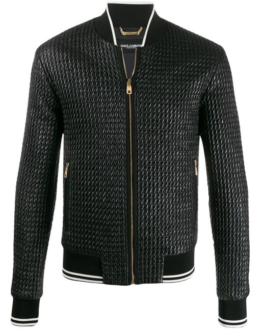 メンズ Dolce & Gabbana キルティング ボンバージャケット Black