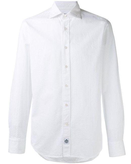 Hydrogen - White Striped Shirt for Men - Lyst