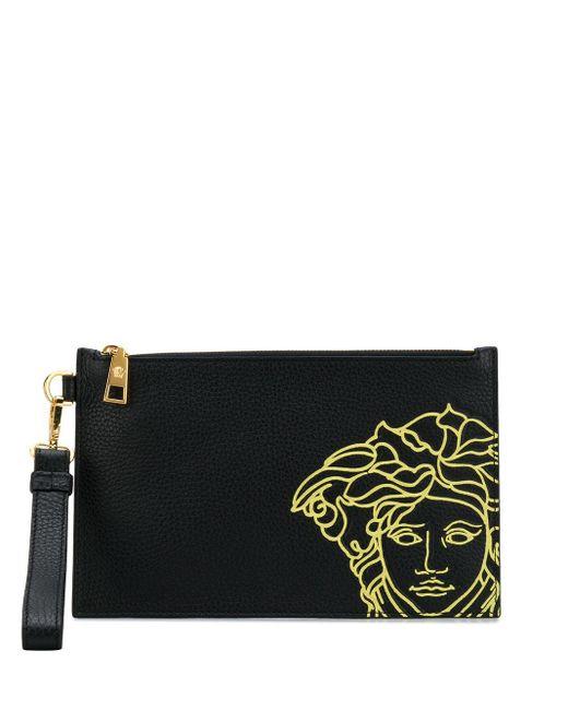 Клатч На Молнии С Принтом Pop Medusa Versace для него, цвет: Black