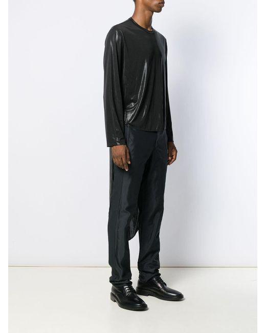 メンズ Comme des Garçons シャイニー シャツ Black