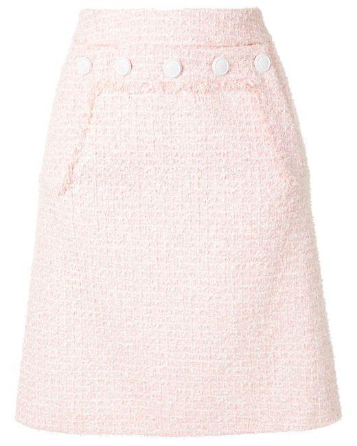 Paule Ka ハイウエスト ペンシルスカート Pink