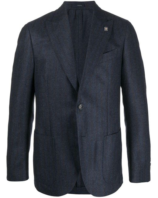 Однобортный Пиджак Узкого Кроя Lardini для него, цвет: Blue