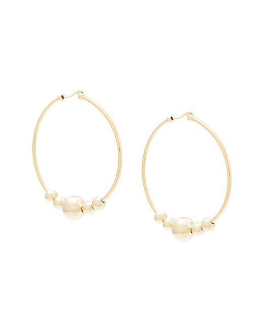 Eddie Borgo - Metallic Large Ring Earrings - Lyst