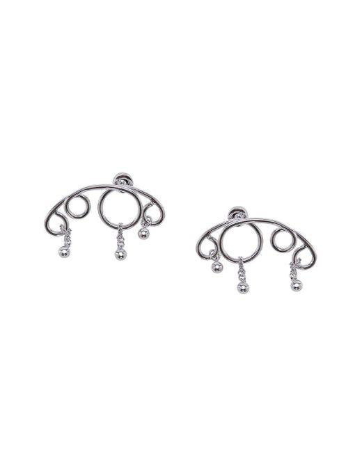 J.W. Anderson Droplet Earrings Metallic