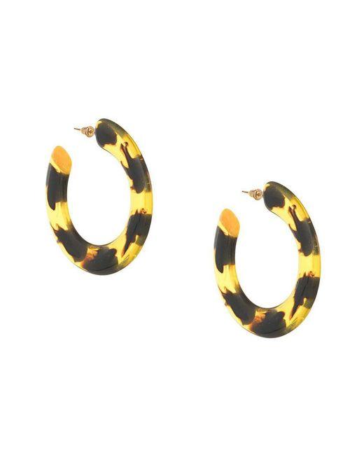 Cult Gaia - Brown Tortoise Effect Hoop Earrings - Lyst