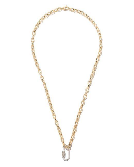 AS29 ダイヤモンド オーバル カラビナ 18kホワイトゴールド Metallic
