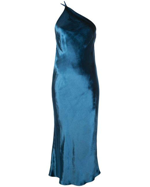 Michelle Mason カウル ドレス Blue
