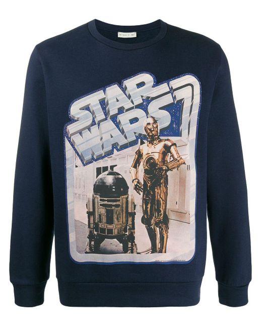 Etro Star Wars スウェットシャツ Blue