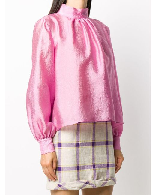 Stine Goya パフスリーブ ブラウス Pink