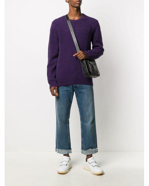 メンズ A.P.C. ロングスリーブ セーター Purple