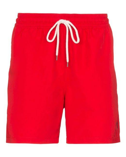 メンズ Polo Ralph Lauren Traveller トランクス水着 Red