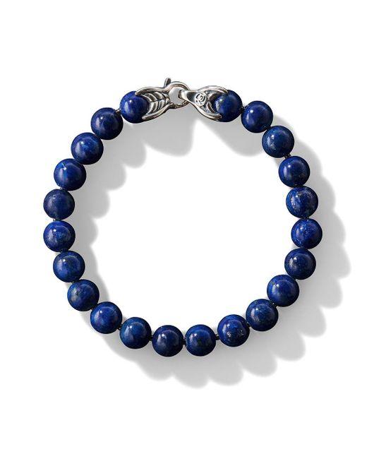 David Yurman Blue Spiritual Bead Bracelet for men