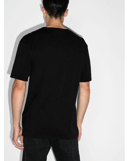 Объемная Футболка С Логотипом Saint Laurent для него, цвет: Black