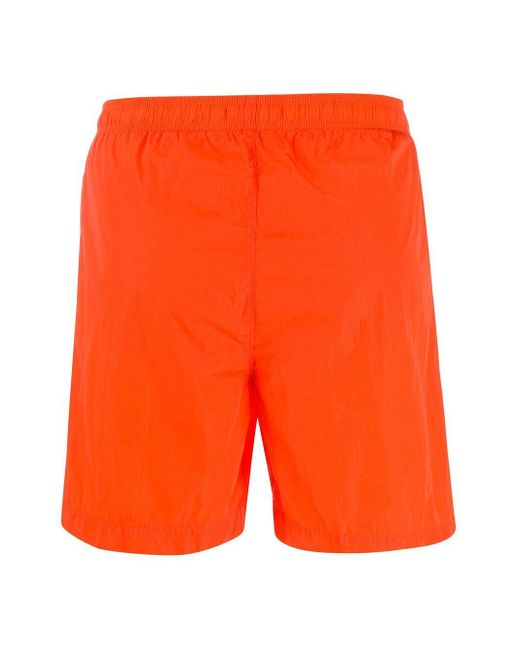 メンズ C P Company トランクス水着 Orange