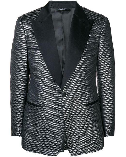 メンズ Dolce & Gabbana ジャカード ジャケット Black