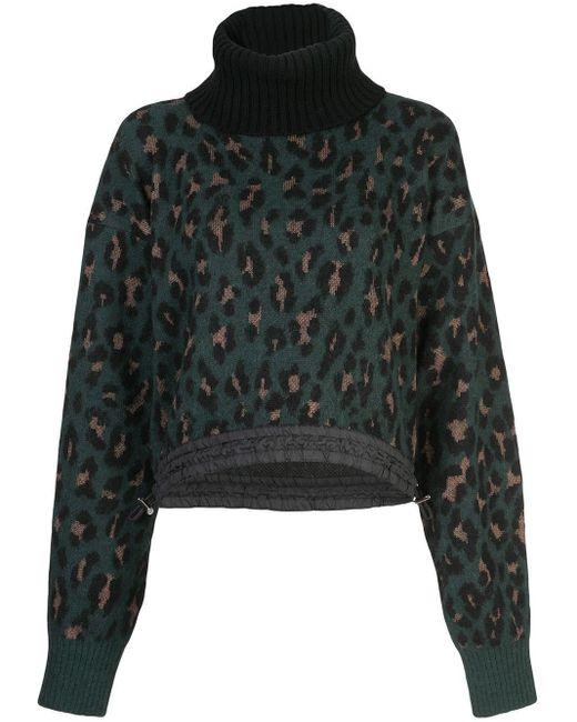 Sacai レオパード セーター Multicolor
