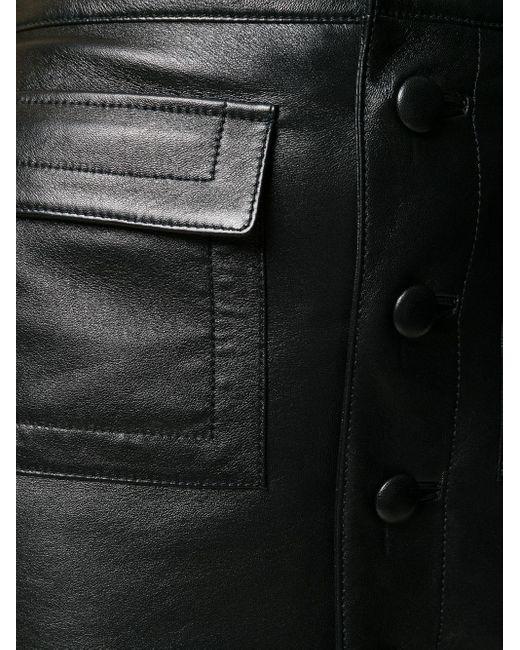 Юбка С Искусственными Перьями Saint Laurent, цвет: Black