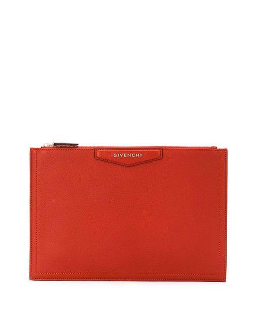 Givenchy ジップ クラッチバッグ Orange