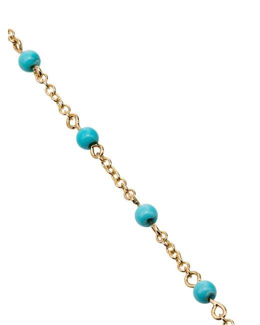 Rosa De La Cruz ターコイズ ブレスレット 18kイエローゴールド Blue