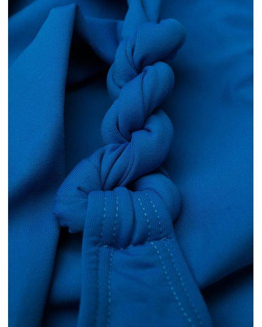 Tara Matthews ワンショルダービキニ Blue