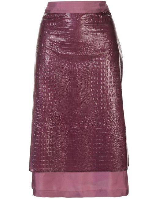 Sies Marjan クロコエンボス スカート Multicolor